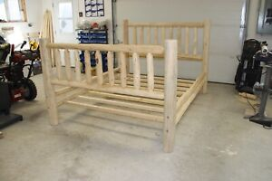 Brand New - Hand Crafted - Pine Log Bed Frame - Queen Sized