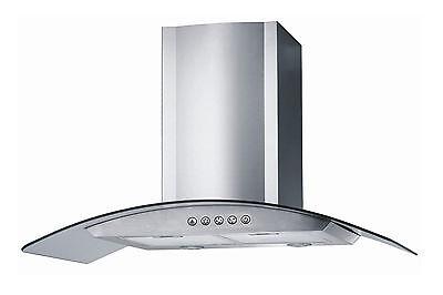 "Stainless Steel 30"" Range Hood Wall Mount 3 Speeds Kitchen Ventilation System"