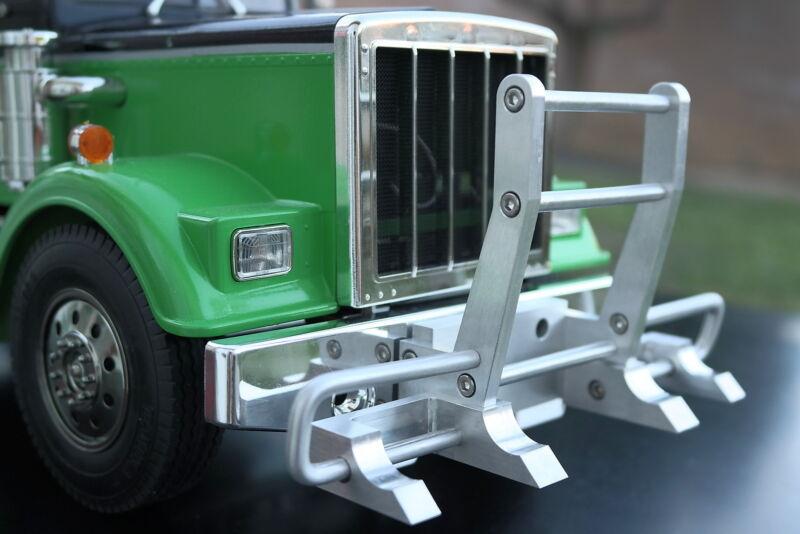 Custom Aluminum Hook style animal Bumper Guard Tamiya RC 1/14 King Knight Hauler