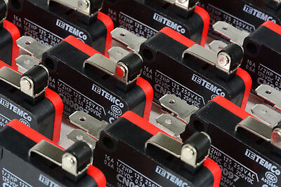 50 Pc Temco Micro Limit Switch Short Roller Lever Arm Spdt Snap Action Home Lot