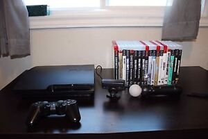PS3, 360 GB, 18 games, all cords + more