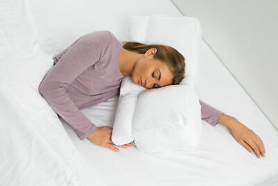 Better Sleep Goose Down Pillow - Patented Arm-Tunnel Design - Bed Pillow, (Best Goose Down Pillows)