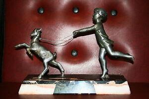 sculpture-statue-regule-signee-P-SEGA-art-deco-chevre-enfant-marbre-french