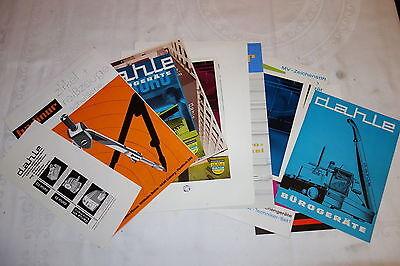 20 Werbegrafiken / Prospekte  Dahle Coburg Bürotechnik 1960-70er Jahre
