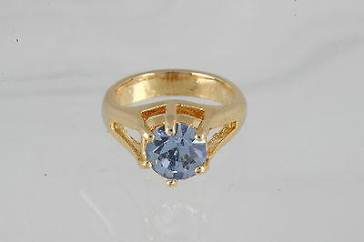 COSTUME AQUAMARINE STONE BABIES RING SIZE IS LESS THEN 1 1/4