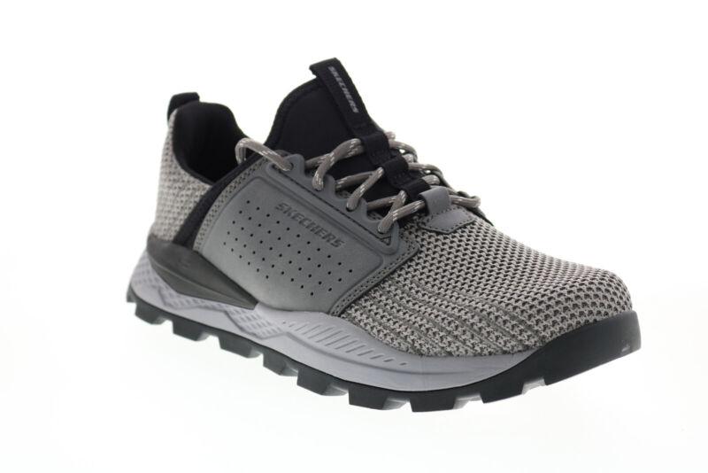 Skechers Riglen Charlo 204292 Mens Gray Mesh Athletic Hiking Shoes