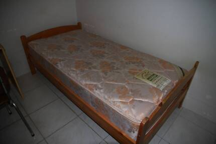 single wooden bed frame for sale