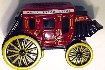 Coin Piggy Bank Wells Fargo   Union Trust Co Cast Iron Stage Coach 1998