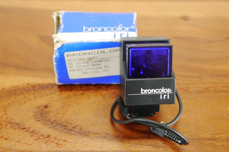 BRONCOLOR IRI Infrared Transmitter Remote Flash Trigger 26.100.00 + Sync Cord