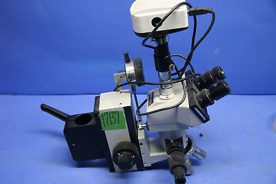 1 Used Meiji Techno Ma648 Trinocular Head Microscope Set Up With Hwf10x-f Infi