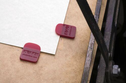 Flexible gauge pins register pins for letterpress printing