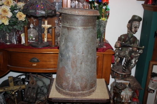 LARGE Antique Nestles Food Co. Metal Milk Dairy Can RARE Country Farm Decor