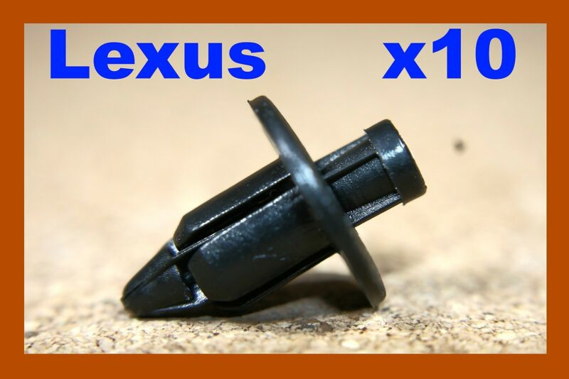 10 Lexus bumper fender trim board rubbing strip plastic push clips fasteners