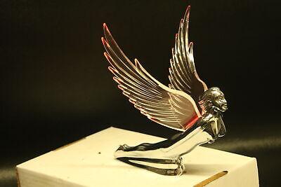 Art Deco Flying Godess 40's 50's Hood Ornament Custom Hot Rod Clear Wings Pink