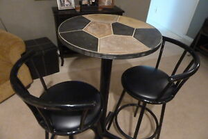 Bistro/Pub Table and Stools (Pier One)