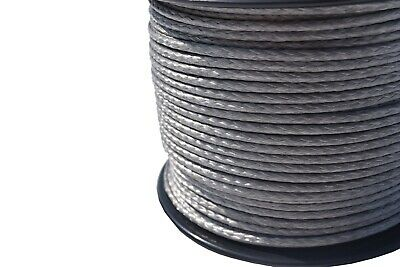 Grey 3mm×330ft 12Strand ATV Winch Line,UHMWPE Winch Cable,Synthetic Rope Cable for sale  Shipping to Canada