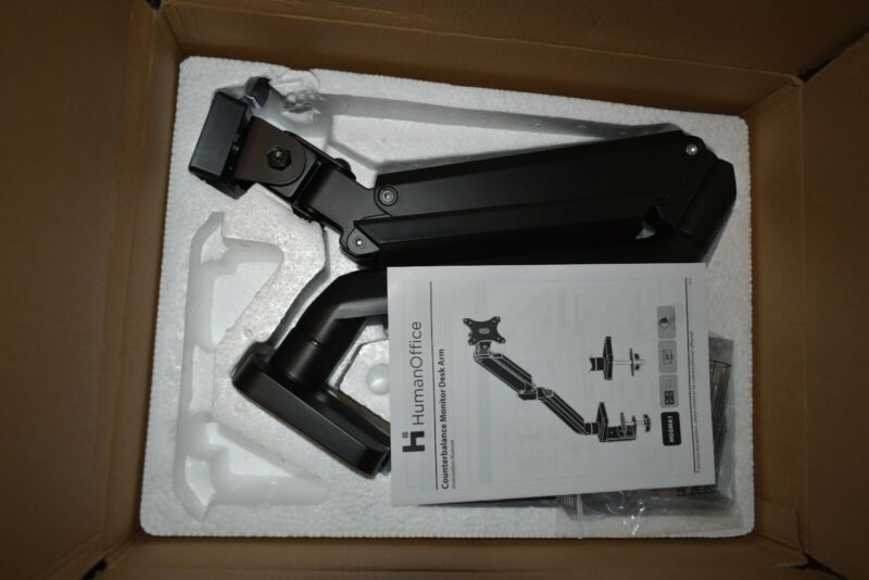 Humanscale Monitor Arm Clamp Mount - Black | Fast Shipping | Gas Spring |