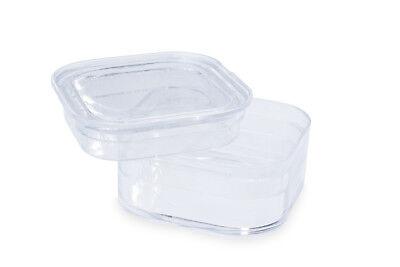 Kleine MEMBRANDOSE (10 St.) 3,8x3,8x1,7cm für schwebende &sichere Lagerung (ECO)