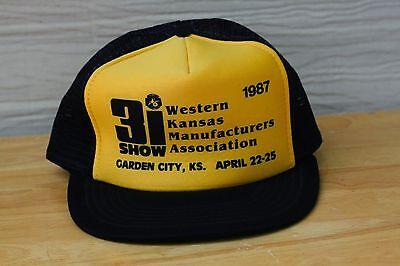 Rare VTG 1987 3I Show Garden City KS Kansas Mesh Trucker Snapback Hat Cap