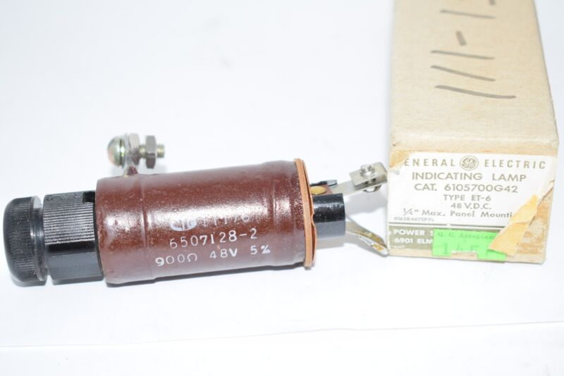 NEW 6105700G42 GE INDICATING LAMP- 48V ET6 DC INDICATOR LIGHT