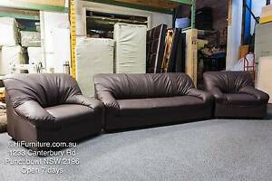 Brand New 2 + 3 Seater Lounge Set Chocolate Brown WAS $1000 Punchbowl Canterbury Area Preview
