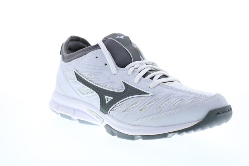 Mizuno Players Trainer 2 11GT175001 Mens White Athletic Baseball Shoes