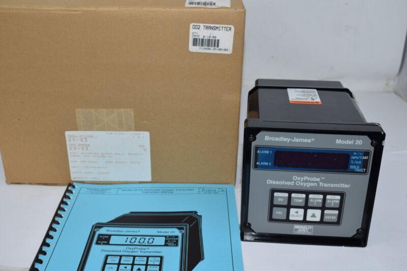 NEW Broadley-James 20-03 OxyProbe Dissolved Oxygen Transmitter Model 20 1054DOBJ
