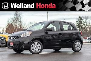 2017 Nissan MICRA SV - 4KM'S!! LOW LOW KM'S NEVER ROAD DRIVEN