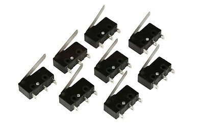 8 Pc Temco Micro Limit Switch Lever Arm Subminiature Spdt Snap Action Lot