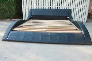 King Size Leather Bed, very good condition Burpengary Caboolture Area Preview