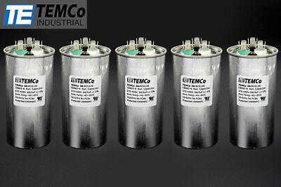 Temco 605 Mfd Uf Dual Run Capacitor 370 440 Vac Volts 5 Lot Ac Motor Hvac 605