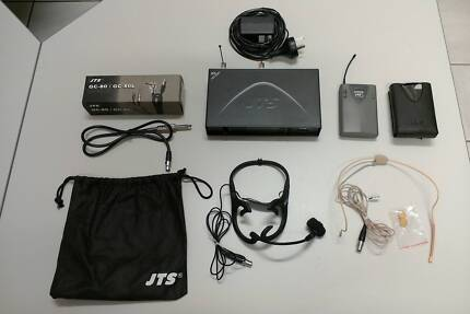 JTS wireless guitar and microphone system