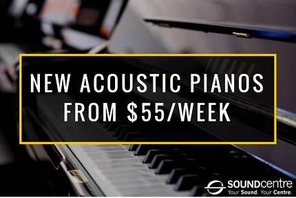 NEW Acoustic Upright Pianos - from $55 Per Week | Kawai | Yamaha