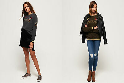 Superdry Womens Rose Army Crew Neck Sweatshirt