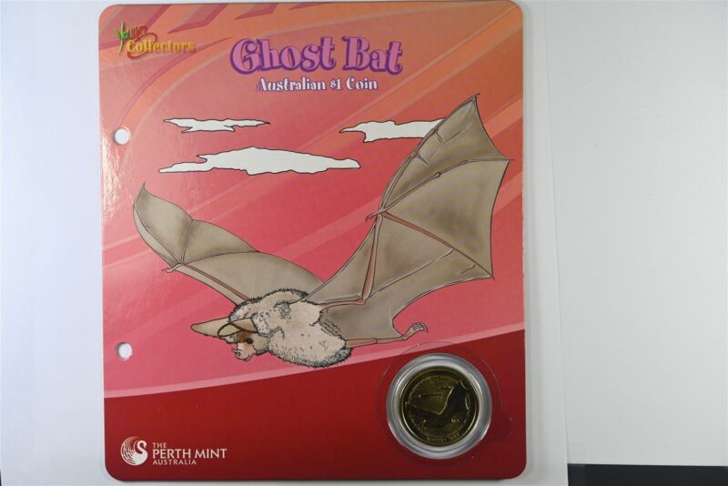 2008 Australian Ghost Bat $1 Coin Perth Mint - Young Collectors - UNC