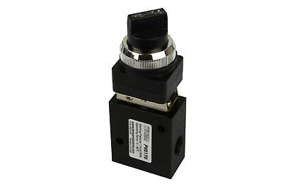 Latching Rotary Knob Nc Pneumatic Control Valve 3 Port 3 Way 2 Position 14 Npt
