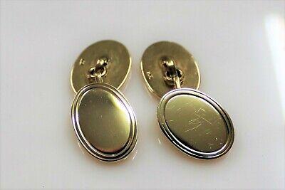 Cartier 14k Yellow Gold Oval Cufflinks