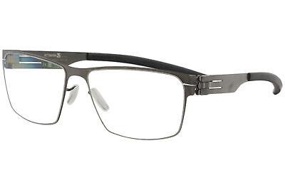 Ic! Berlin Eyeglasses Torsten S. Graphite/Black Full Rim Flex Optical Frame (Berlin Optical)