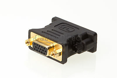 DVI I Male Dual Link To 24+5 VGA 15 Pins Female Adapter PC Monitor Video Laptop Link Dvi Video
