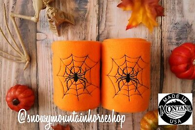 Polo Wraps For Horses Polos Set of 2 Halloween  Spider in Spider web - Horse Costume For 2
