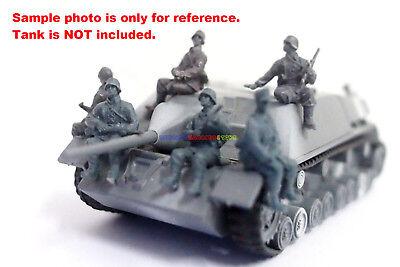 Caesar 1/72 WWII German Soldier Tank Rider 6 Figures Camouflage Suit Toy Soldier
