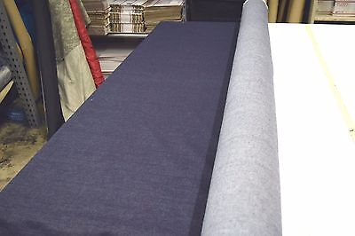 "PREMIUM 13OZ BLUE INDIGO DENIM JEAN FABRIC 100% COTTON  68"" WIDE BY THE YARD"