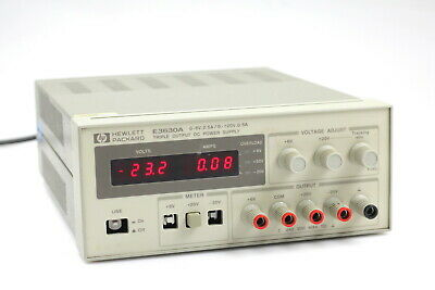 Hp Agilent E3630a Triple Output Dc Power Supply - 0 To 6v 2.5a 2