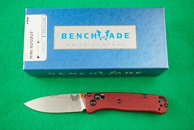 BENCHMADE 533 MINI BUGOUT, CPM-S30V, AXIS LOCK, CUSTOM DARK RED HANDLE, NEW
