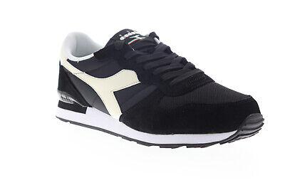 Diadora Camaro 159886-C0641 Mens Black Suede Low Top Lifestyle Sneakers Shoes 9