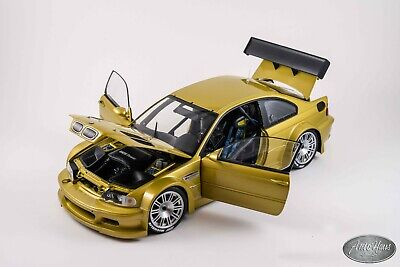 1/18 MINICHAMPS BMW M3 GTR PHOENIX YELLOW STREET 2001 DEALER EDITION