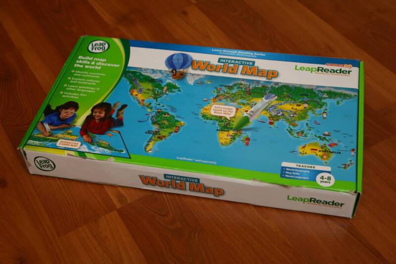 Leapfrog world map game interactive books and leapreader pen leapfrog world map game interactive books and leapreader pen bayswater bayswater area image 2 1 of 6 gumiabroncs Image collections