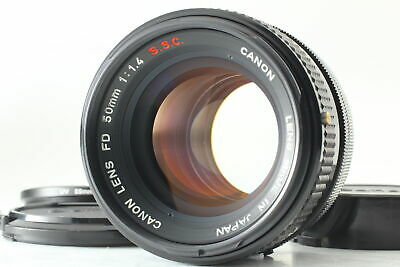 [Exc+4] Canon FD 50mm f1.4 S.S.C. MF Standard Lens FD Mount w/ Filter From JAPAN