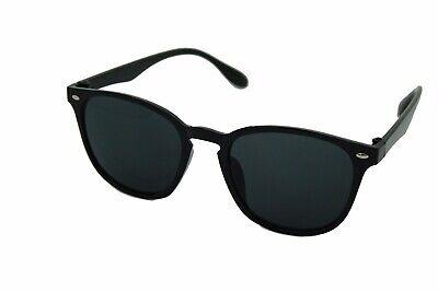Mens Womens Uni Black POLARISED Lens Sunglasses Mirrored UV Matte Driving UV400, usado segunda mano  Embacar hacia Spain
