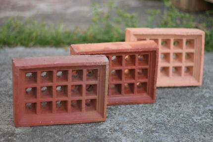 Terracotta Vent Bricks - $8 for singles, $12 for doubles